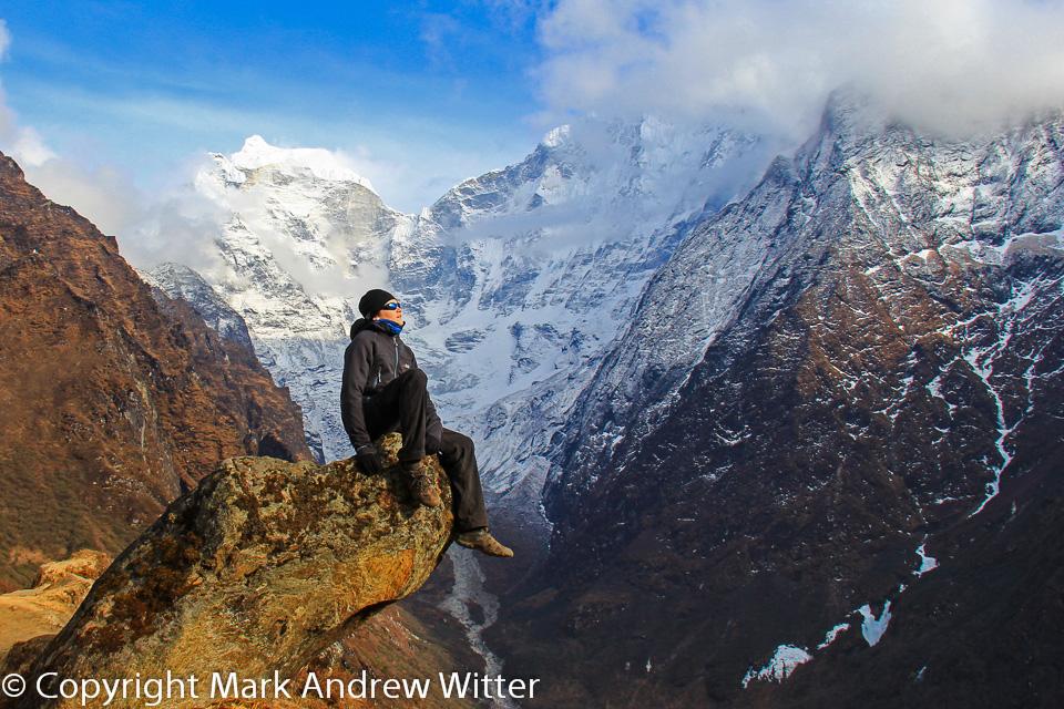Trekker on Everest Base Camp Trek