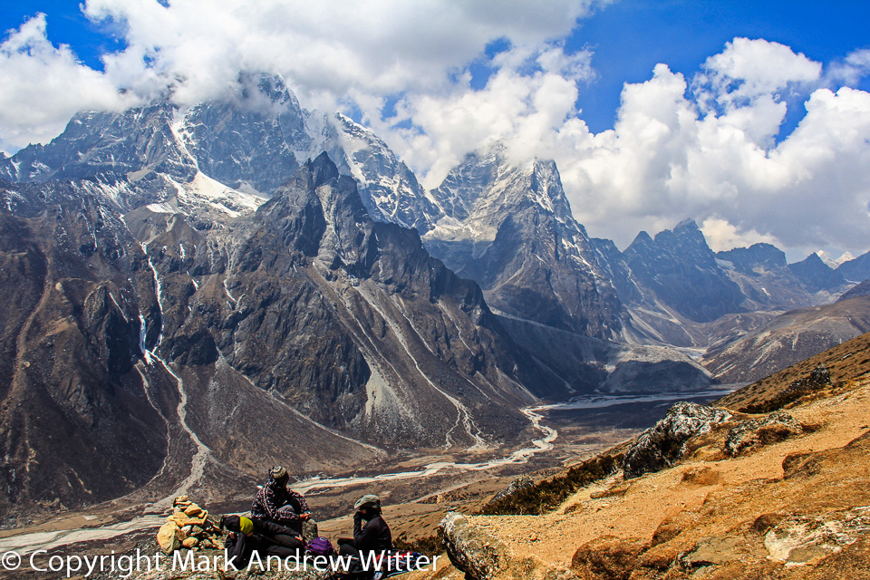 Trekkers in the Himalayas