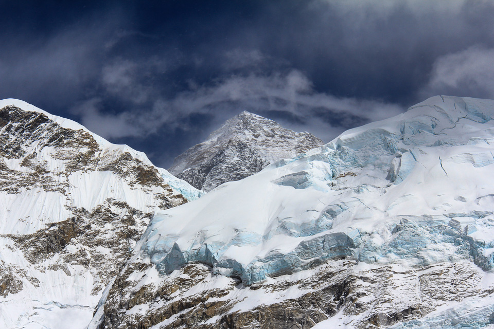 Mt Everest in the Himalayas