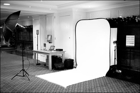 Mobile Photo Studio Ipswich - set up