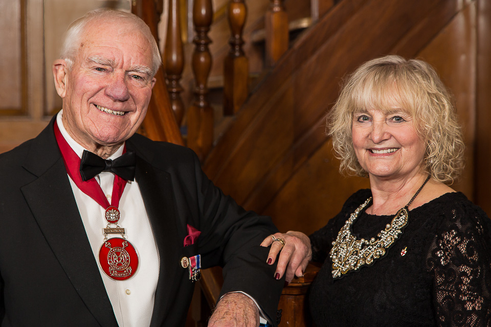 ken Tappenden and wife at Beadle dinner