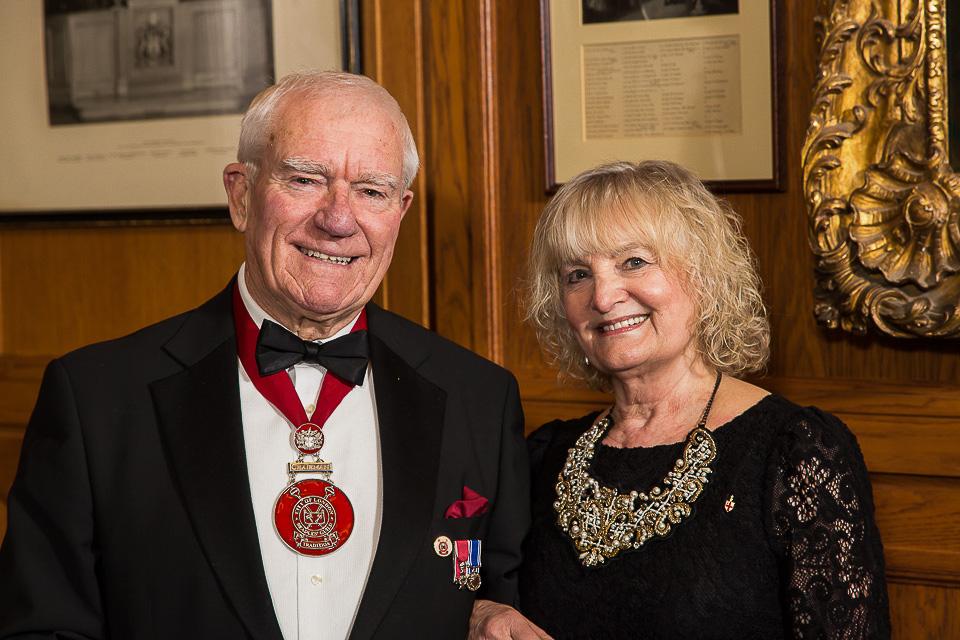 Beadle Chairman posing with wife