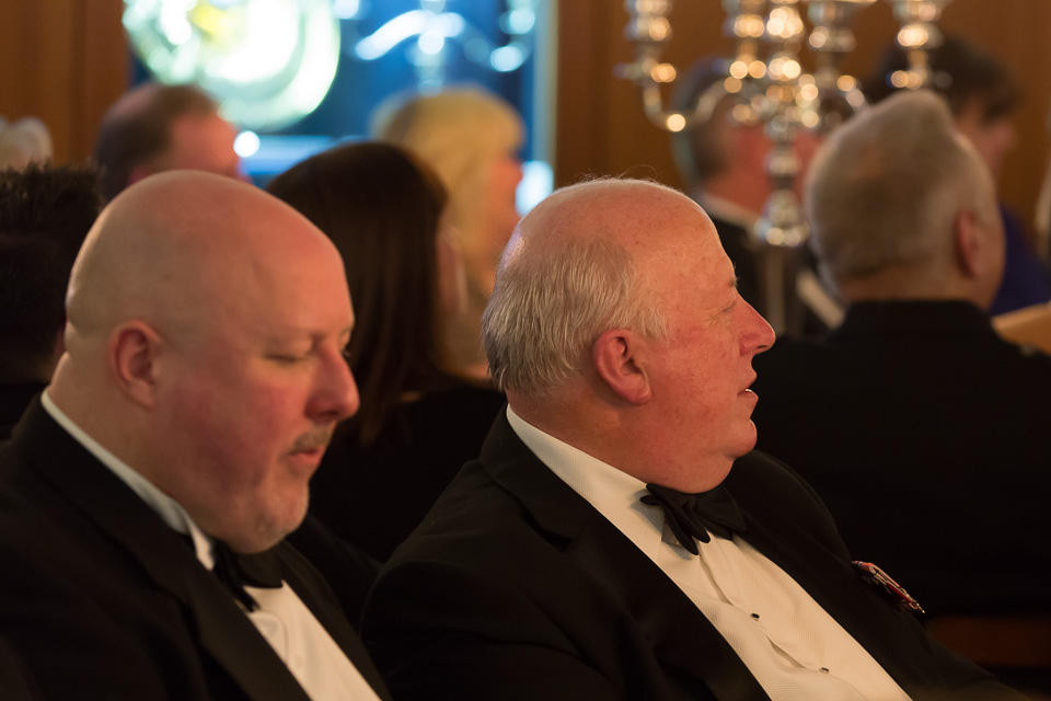 Diners at black tie event