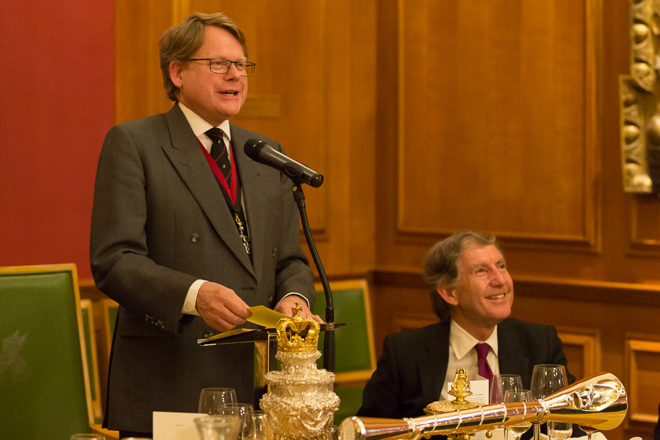 Master giving speech to livery company