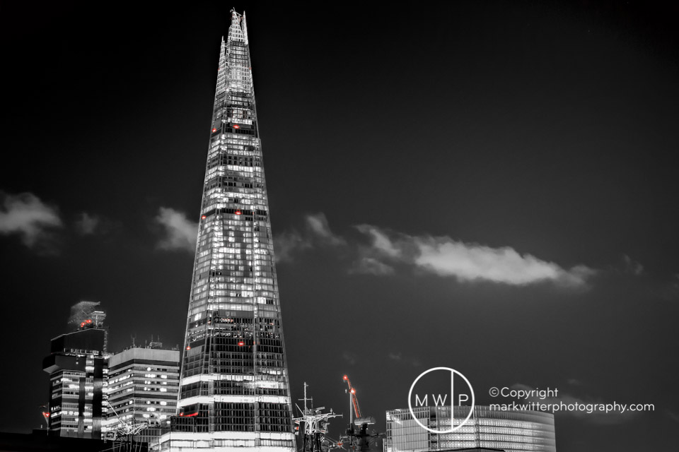 The Shard By Night From Tower Of London