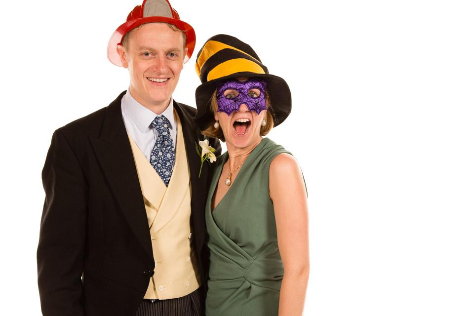 Couple in fancy dress hats