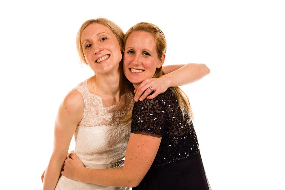 Mobile Photo Studio - Bride hugging Maid of Honour