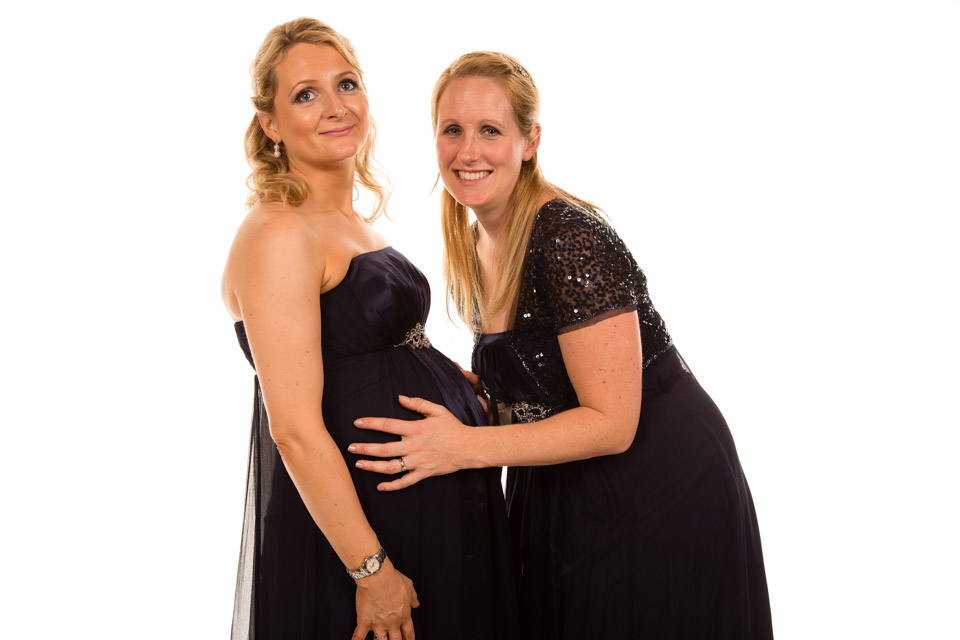 Mobile Photo Studio London - pregnant party guest and friend