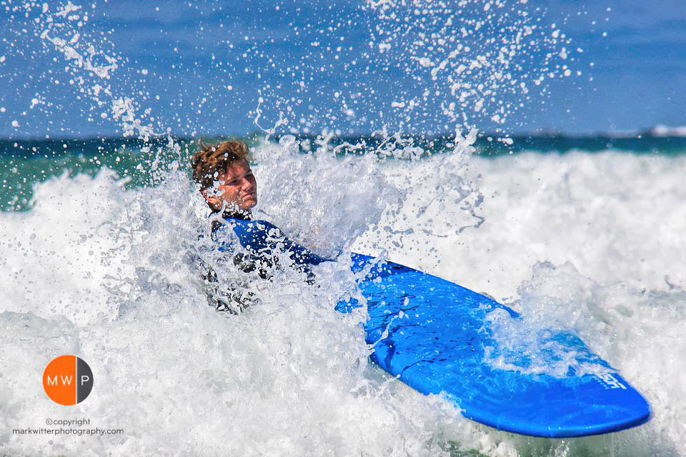 Outdoor Action with surfboard