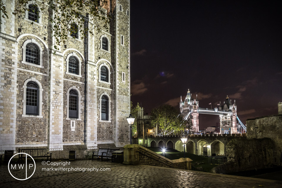 Tower of London and Tower Bridge by Night