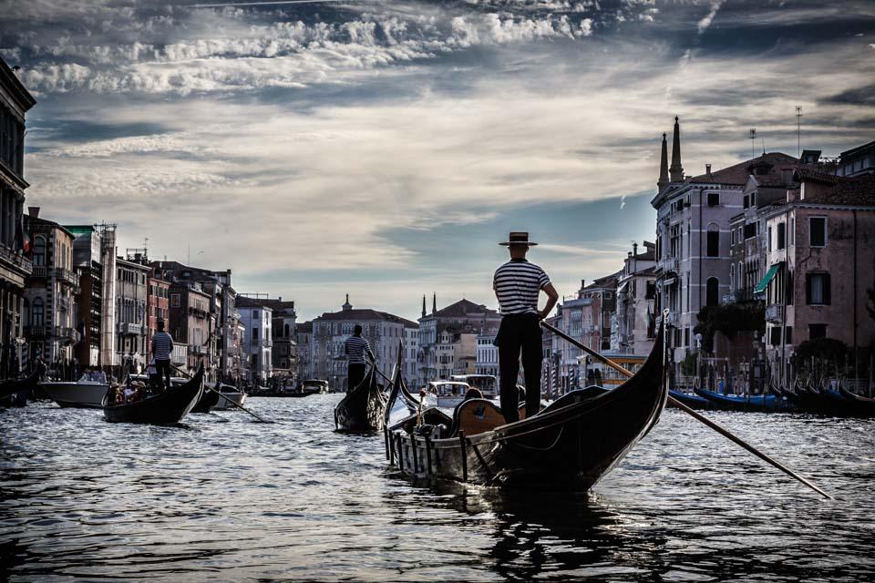 Gondala on Grand Canal venice