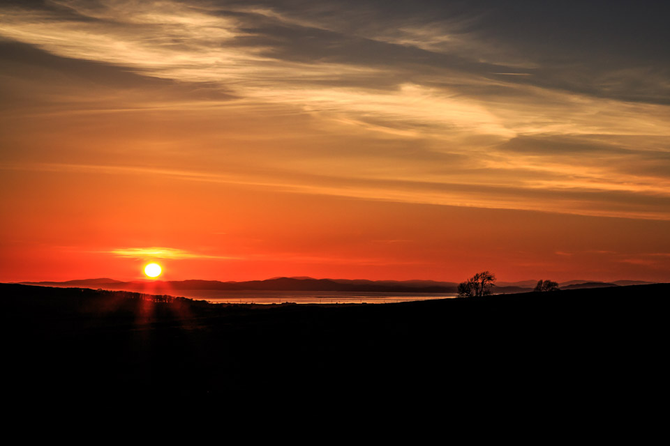 Sunset over the Solway Firth by Ipswich Photographer