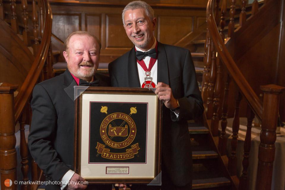 award presentation at Beadles' Guild Dinner