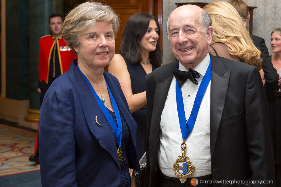 Stuart Thom Mayor of Wandsworth 2014 at a Livery Company function the Clothworkers' Hall in the City of London.