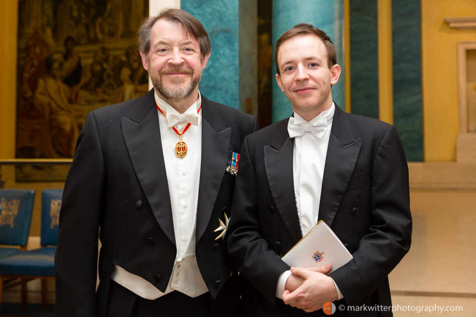 Sir Roger Gifford (Left) Lord Mayor of London 2012-13 at the Clothworkers Hall