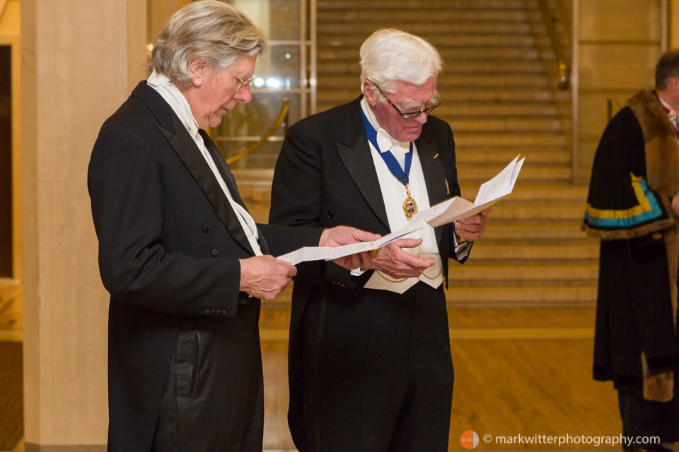 Liverymen at the Clothworkers' Hall