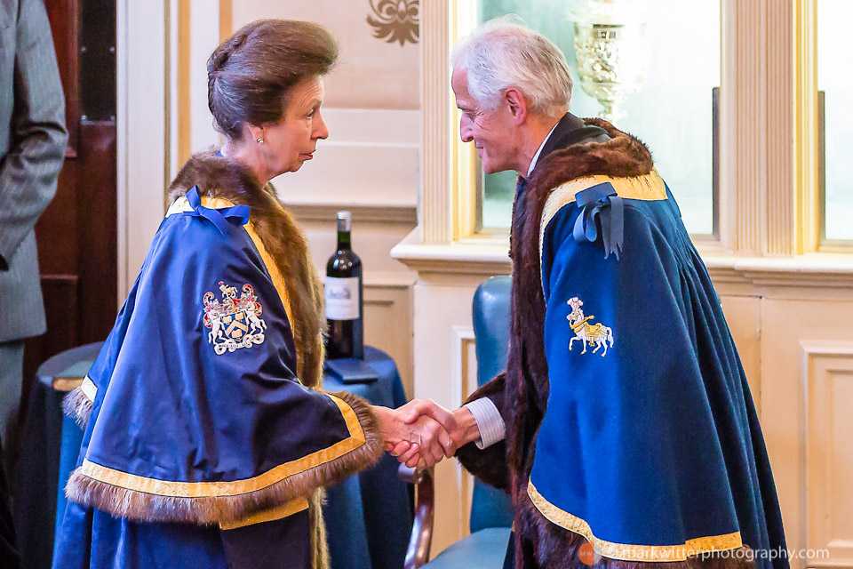 HRH The Princess Royal on her installation as Perpetual Master of the Worshipful Company of Saddlers