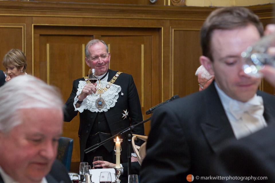 Sir Alan Yarrow at the Clothworkers Hall