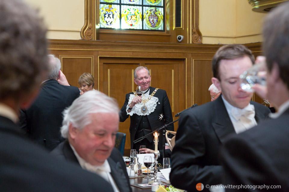 Sir Alan Yarrow at The Clothworkers' Hall