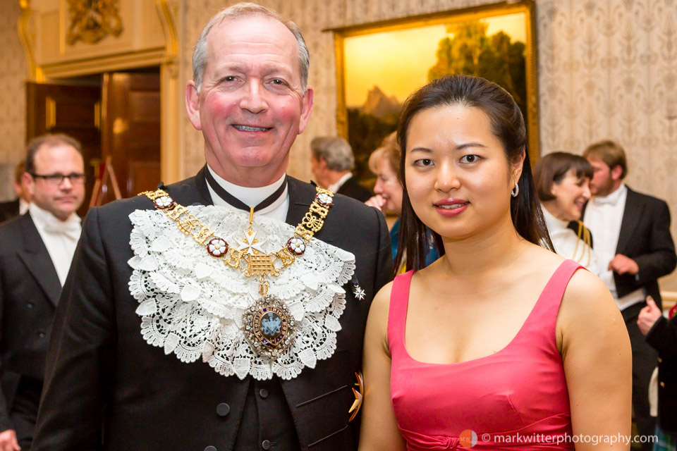 Sir Alan Yarrow Lord Mayor of London 2014-15 and Annie Yim