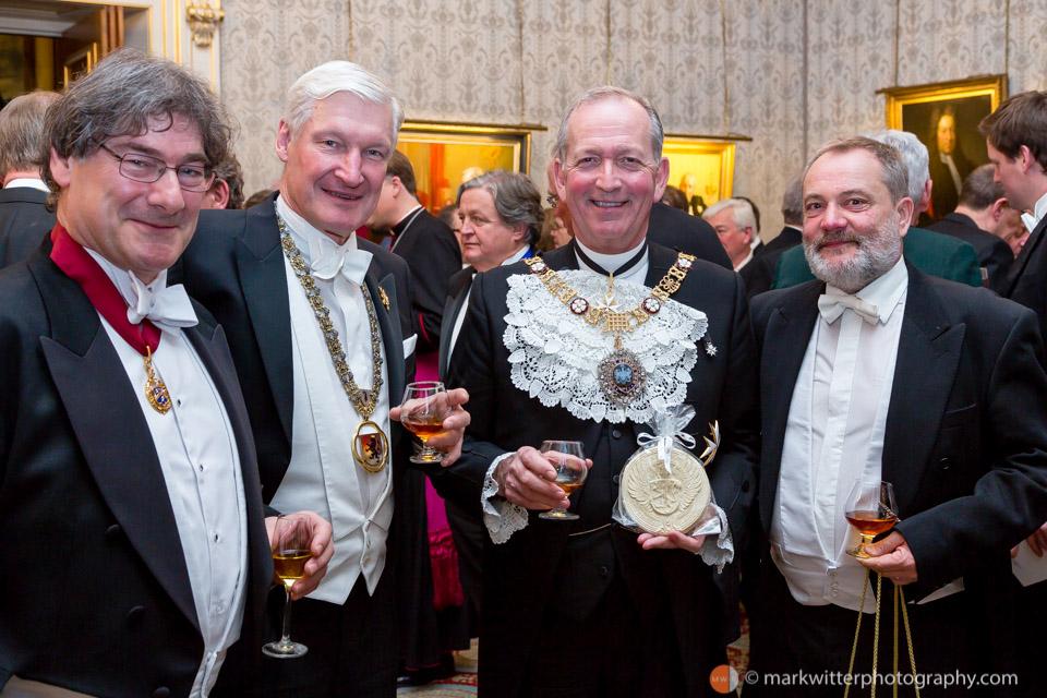 Sir Alan Yarrow (centre right) Lord Mayor of London 2014-15