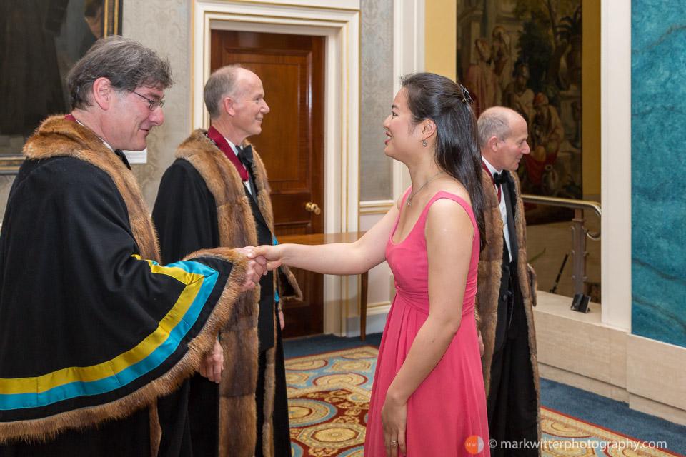 John Rubinstein receives Concert Pianist Annie Yim