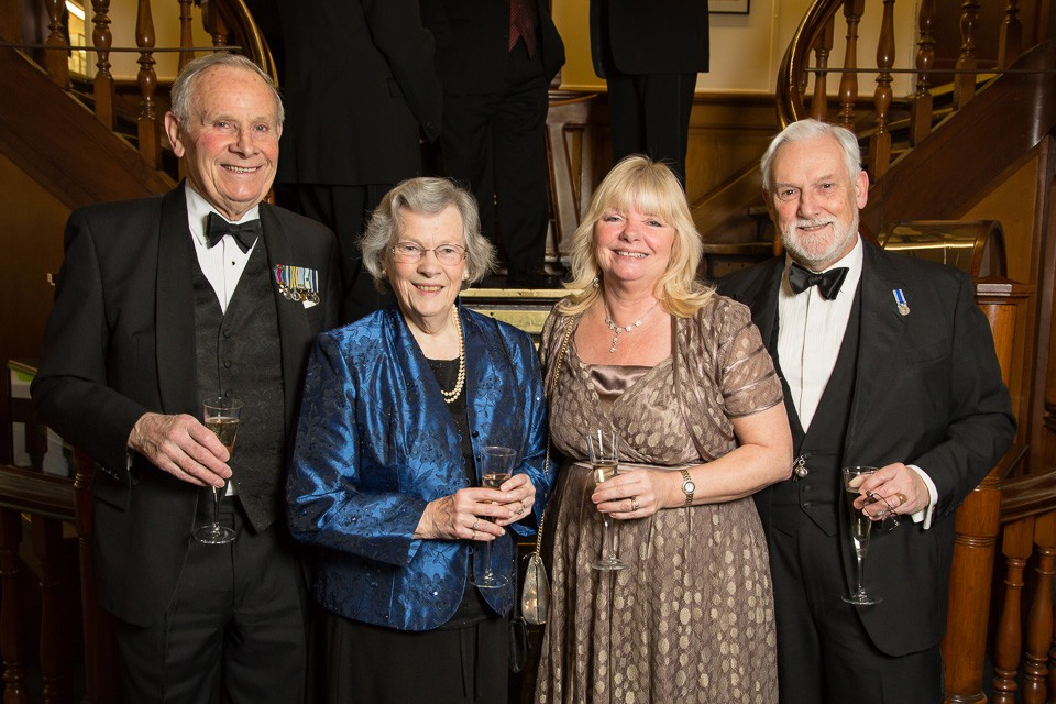Beadles' Guild Dinnerguests on statirs