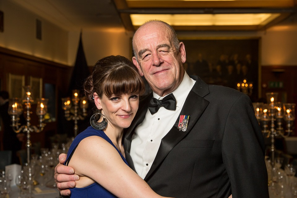 Father and Daughter at Dinner event