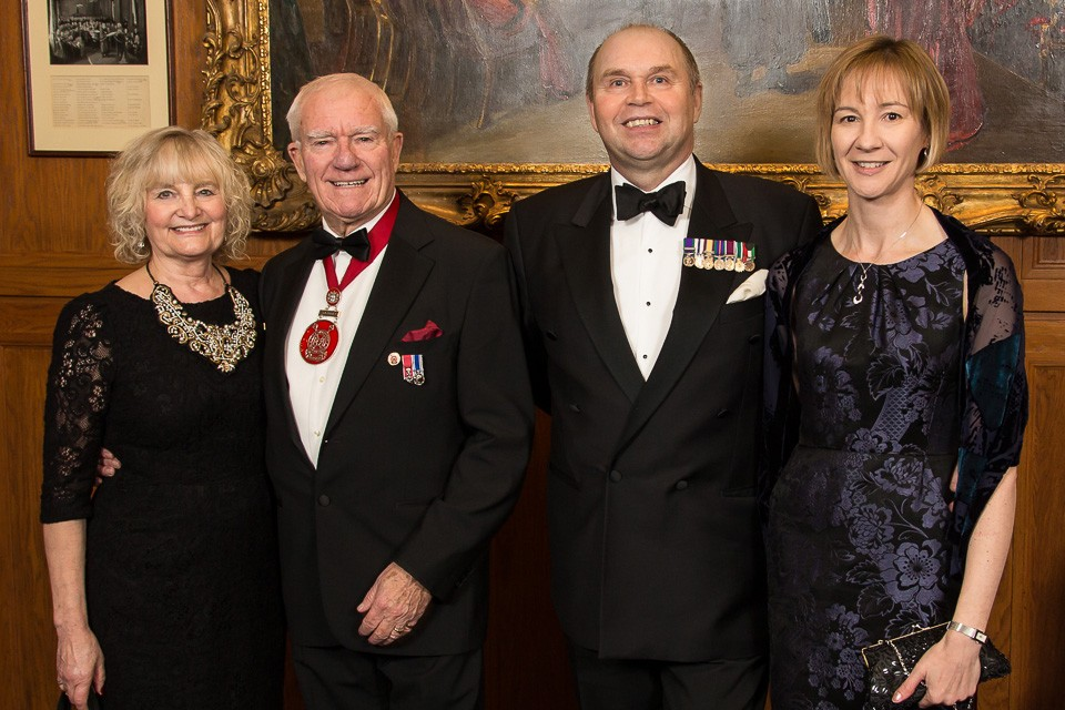 Chairmen and wives posing
