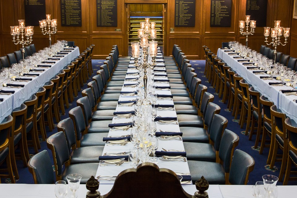 Event venue dinner tables