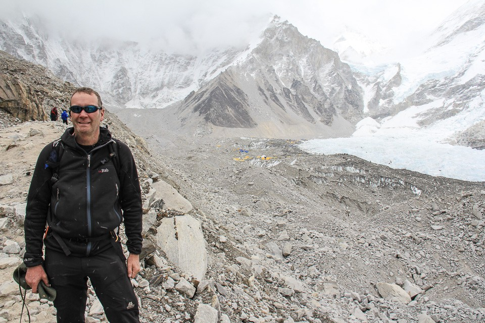 Mark Witter at Everest Base Camp Himalayas