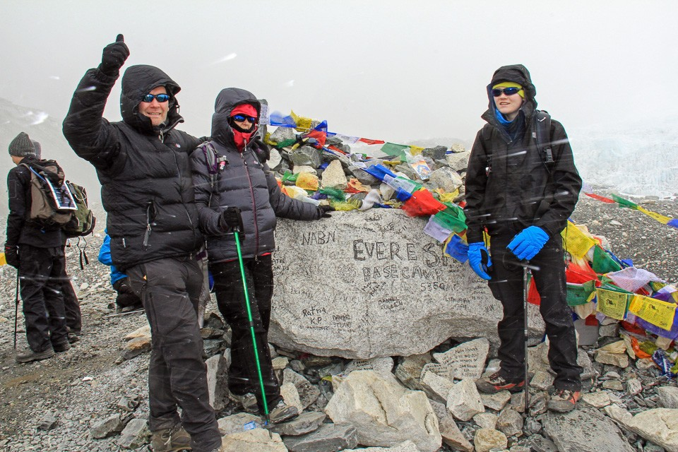 Witter family at Mt Everest Base Camp Himalayas