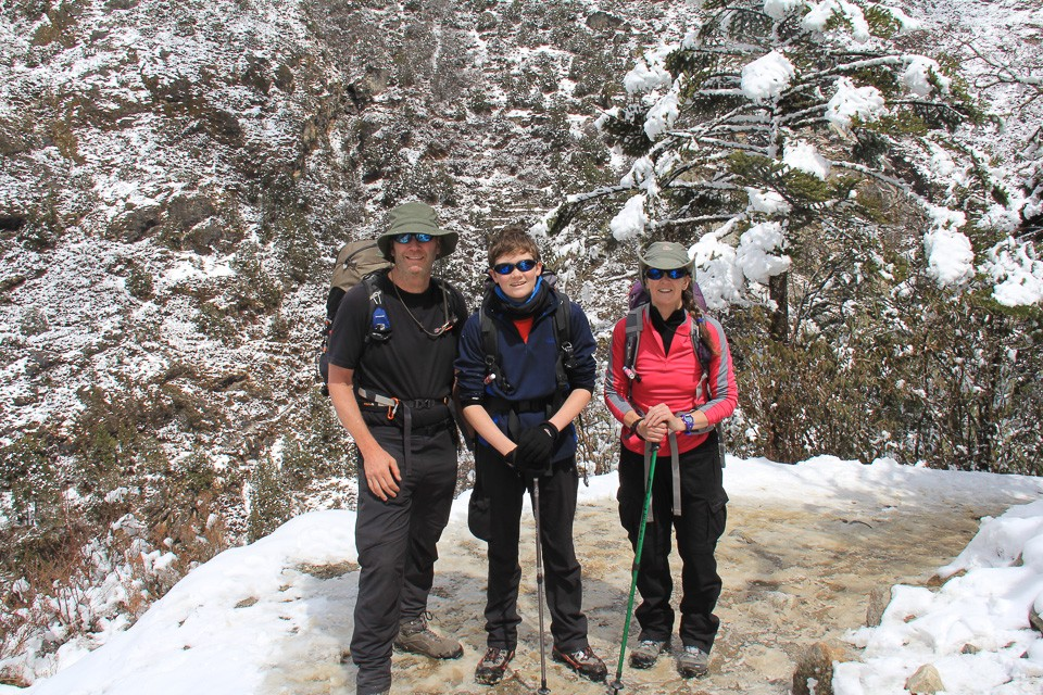 Witter Family trekking in Nepal