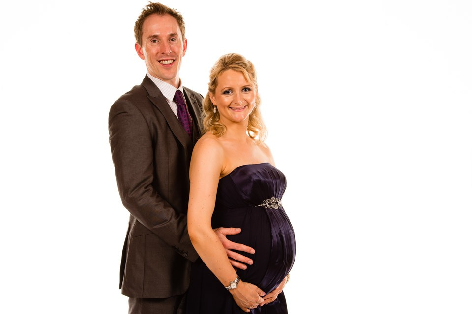 Mobile Photo Studio London pregnant party couple