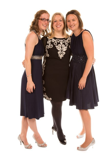Mobile Photo Studio London - 3 girls in party dresses