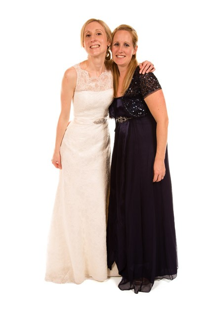 Mobile Photo Studio London-bride and bridesmaid