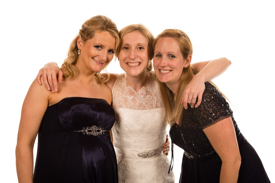 Mobile Photo Studio London - bride with bridesmaids