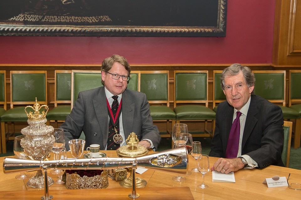 Livery Company Master at Dinner